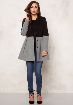 BUBBLEROOM Sensa coat Light grey & black Bubbleroom.se