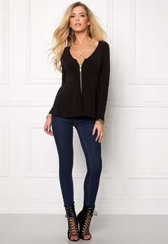 BUBBLEROOM Meg zip jacket Black Bubbleroom.se