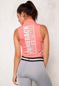 BUBBLEROOM SPORT Achieve sport top Peach Bubbleroom.se