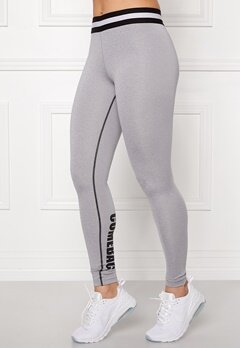 BUBBLEROOM SPORT Conquer train tights Light grey melange Bubbleroom.se