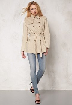 b.young Alex Short Trenchcoat Oxford Tan Bubbleroom.se