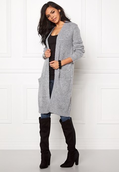 b.young Magalene Cardigan Light Grey Melange Bubbleroom.se