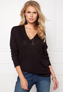 b.young Oasisi V-Neck Black Bubbleroom.se