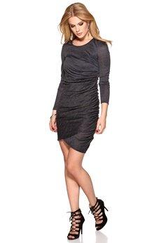 b.young Sunday Dress 80735 Asphalt Bubbleroom.se