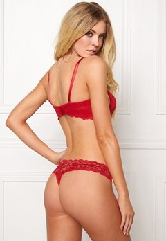 Calvin Klein CK Strapless Lift Bra Regal Red Bubbleroom.se