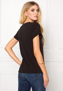 Calvin Klein Cotton Knitted T-shirt Black Bubbleroom.se
