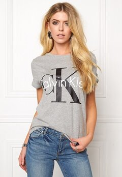 Calvin Klein Cotton Knitted T-shirt Grey Bubbleroom.se
