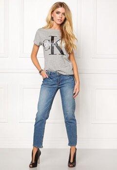 Calvin Klein Cotton Knitted T-shirt Grey Bubbleroom.se