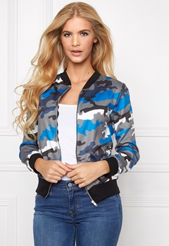 Mixed from Italy Camo Zip Front Bomber Blue Bubbleroom.se