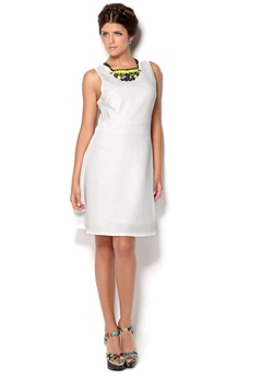 VILA Cans Dress White Bubbleroom.se