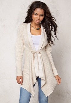 Happy Holly Cardigan Terese Beige/Offwhite Bubbleroom.se