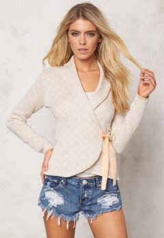 Happy Holly Cardigan Mona Beige/Offwhite Bubbleroom.se