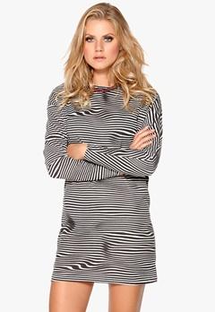 CHEAP MONDAY Assy Stripe Dress Liquid Dirty White Bubbleroom.se
