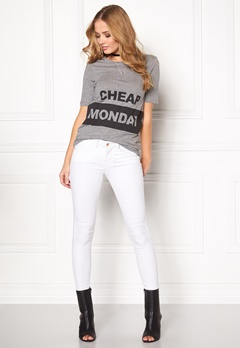 CHEAP MONDAY Break Block Logo Tee Grey Melange Bubbleroom.se