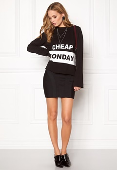 CHEAP MONDAY Coach Block Logo Sweat Black Bubbleroom.se