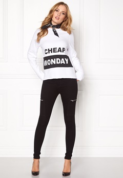 CHEAP MONDAY Coach Block Logo Sweat White Bubbleroom.se