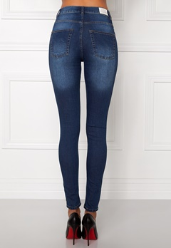 CHEAP MONDAY High Spray Jeans Dark Blue Bubbleroom.se