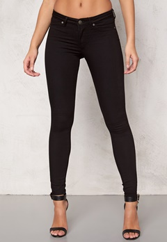 CHEAP MONDAY Mid Spray Jeans Black Bubbleroom.se