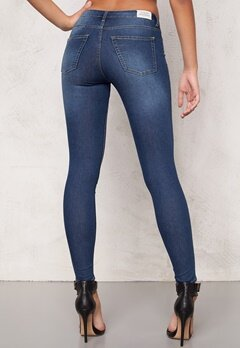 CHEAP MONDAY Mid Spray Jeans Mid Blue Bubbleroom.se