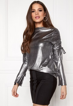 CHEAP MONDAY Tempo Lurex Top Silver Bubbleroom.se