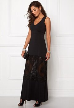 Chiara Forthi Aava Evening Gown Black Bubbleroom.se