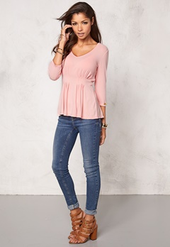 Chiara Forthi Araminta Jersey Top Strawberry Mousse Bubbleroom.se