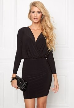 Chiara Forthi Axina Solid Dress Black Bubbleroom.se