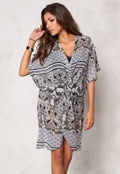 Chiara Forthi Beach Cover-Up Natural/Black Bubbleroom.se