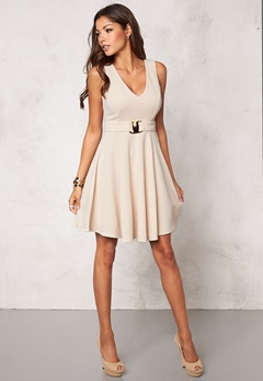 Chiara Forthi Becca Dress Beige Bubbleroom.no