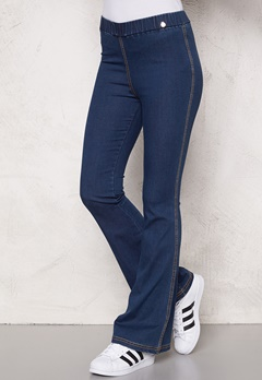Chiara Forthi Bell Bottom Jeggings Blue denim Bubbleroom.se