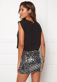 Chiara Forthi Bonnie Sequin Dress Black/Silver Bubbleroom.se