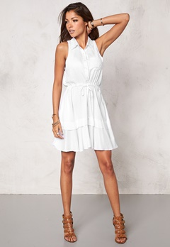 Chiara Forthi Cascade Shirt Dress White Bubbleroom.se