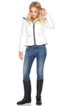Chiara Forthi City Zip Jacket White/Black/Silver Bubbleroom.se