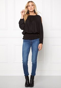 Chiara Forthi Cold Shoulder Top Black Bubbleroom.se