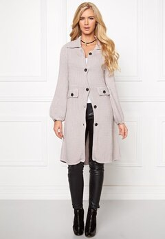 Chiara Forthi Cotton Knit Coat Ash Grey Bubbleroom.se
