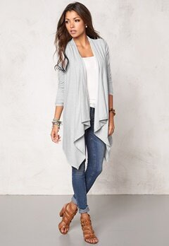 Chiara Forthi Dip Hem Cover-Up Light Grey Melange Bubbleroom.se