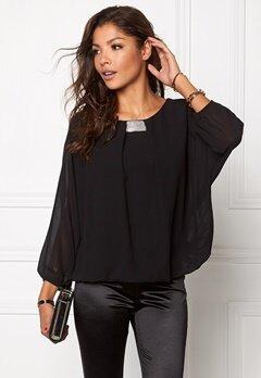 Chiara Forthi Dolman Sleeve Blouse Black Bubbleroom.se