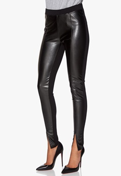 Chiara Forthi Eco-Leather Front Legging Black Bubbleroom.se