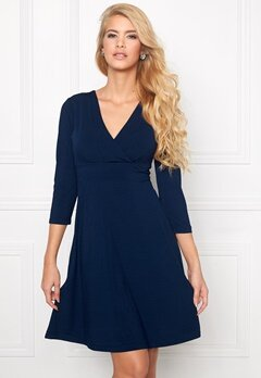 Chiara Forthi Emiliana Wrap Dress Dark blue Bubbleroom.se