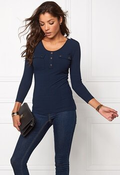Chiara Forthi Ethel Top Midnight blue / Gold Bubbleroom.se