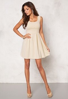 Chiara Forthi Fontana Skater Dress Light Beige Bubbleroom.se