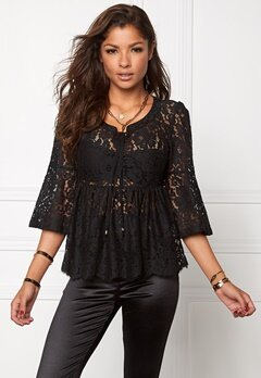 Chiara Forthi Giovanna Lace Top Black Bubbleroom.se
