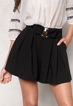 Chiara Forthi Golden Bow Shorts Black Bubbleroom.se