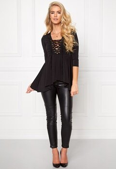 Chiara Forthi Hailey 3/4-sleeve Top Black Bubbleroom.se