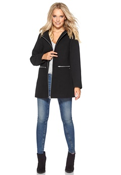 Chiara Forthi Hooded Zip Jacket Black/Silver Bubbleroom.se