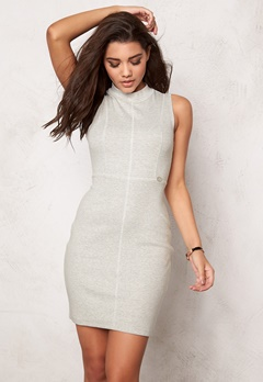 Chiara Forthi Intrend Ribbed Dress Marled Grey Bubbleroom.se