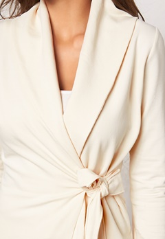Chiara Forthi Jersey Wrap Cardigan Cream Bubbleroom.se