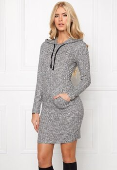 Chiara Forthi Kangaroo Pocket Rib Top Grey melange Bubbleroom.se