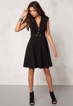 Chiara Forthi Kellie Zip Dress Black/Silver Bubbleroom.no