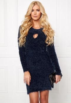 Chiara Forthi Keyhole Knit Dress Midnight Blue Bubbleroom.se
